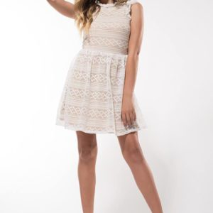 "Miss Behave Girls ""Hazel Lace Dress"" White- Penelope Tree"