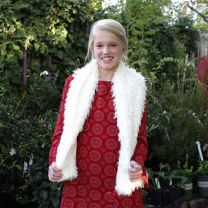 Girls Bohemian Georgina Dress w/ Bell Sleeves Red
