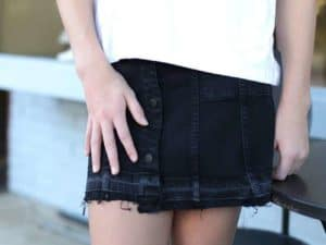 "DL1961 ""Black Denim"" Skirt"