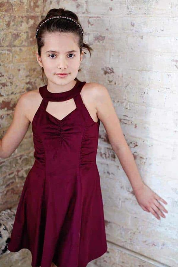 "Gigi Ri ""The Marlene Dress"" Burgundy"