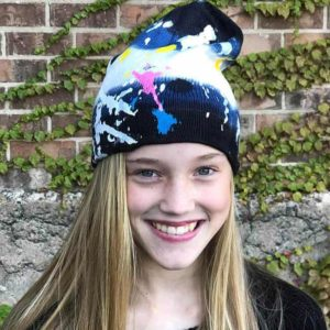 Girls Splatter Paint Hat