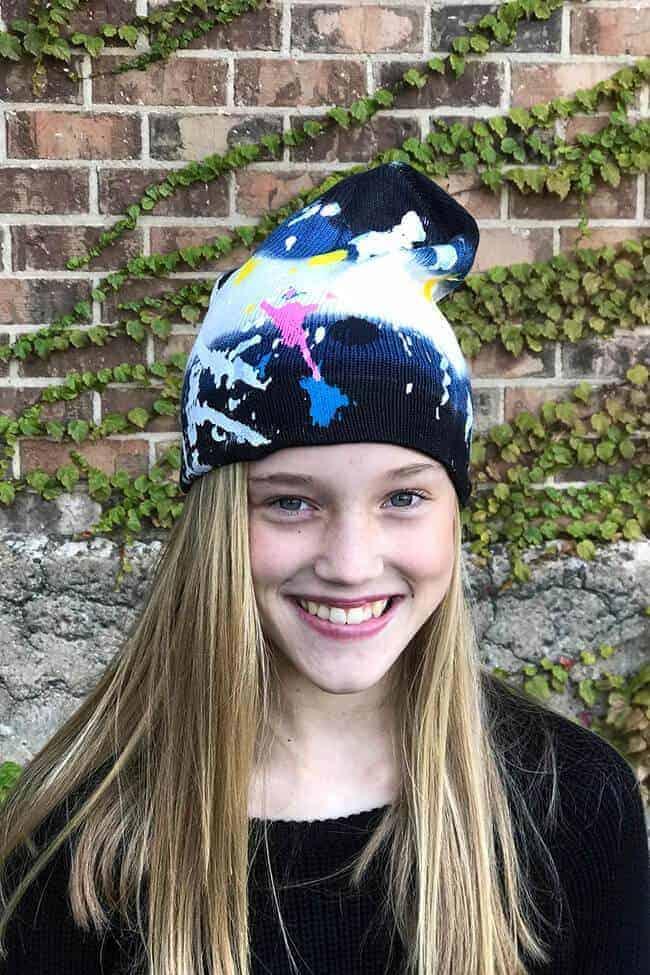 Girls Splatter Paint Hat