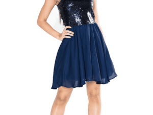Girls Sequin Josie Dress Navy