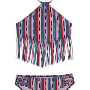 Girls Fringe 2-Piece Swimsuit