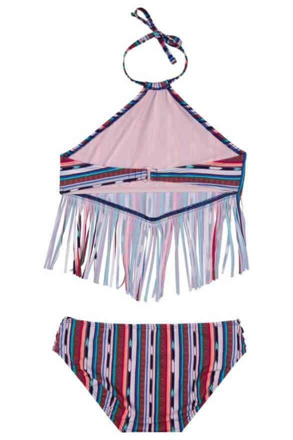 Girls Fringe 2-Piece Swimsuit