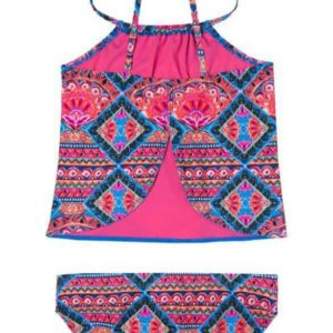 Girls Gypsy Dazzler Tankini Swimsuit Pink