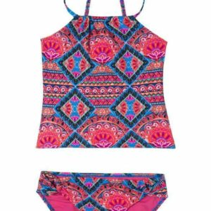 Girls Gypsy Dazzler Tankini Swimsuit Pink