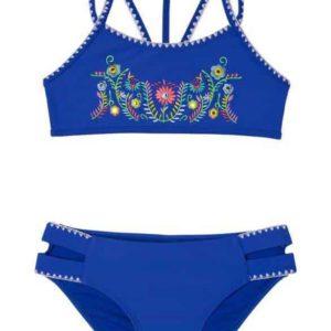 Girls Looking Glass 2-Piece Swimsuit Blue