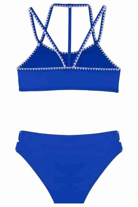 Girls Looking Glass 2-Piece Swimsuit Blue
