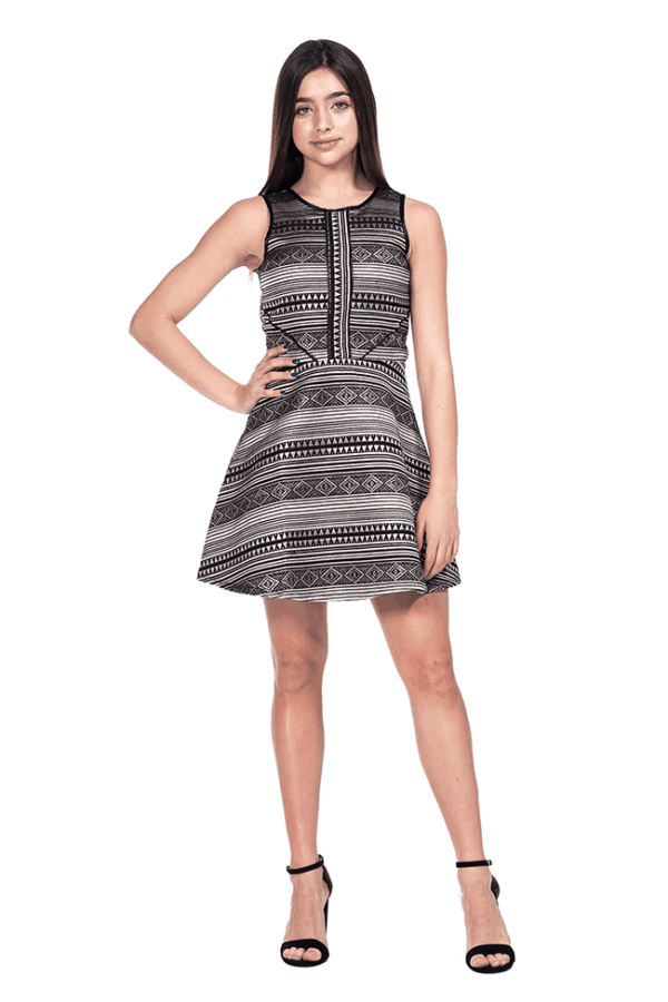 Kate Geometric Dress Black