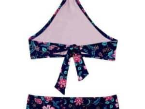 Girls Floral Field 2-Piece Swimsuit Navy