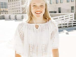 Girls Crochet Top White