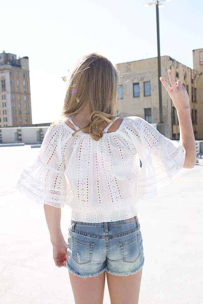 Girls Crochet Top White