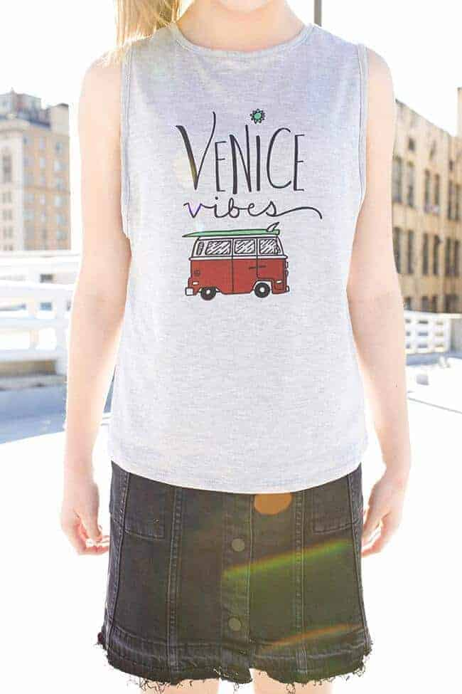 "Love & Sunflowers ""Venice Vibes"" Grey Jersey Knit"
