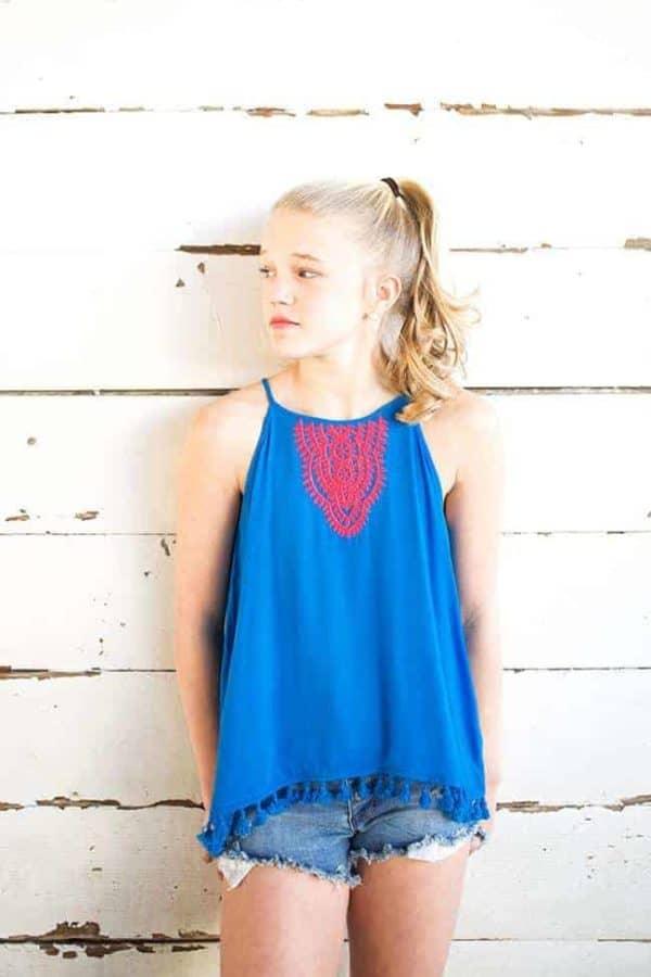 """Hayden LA """"Embroidery Tassel Tank"""""""