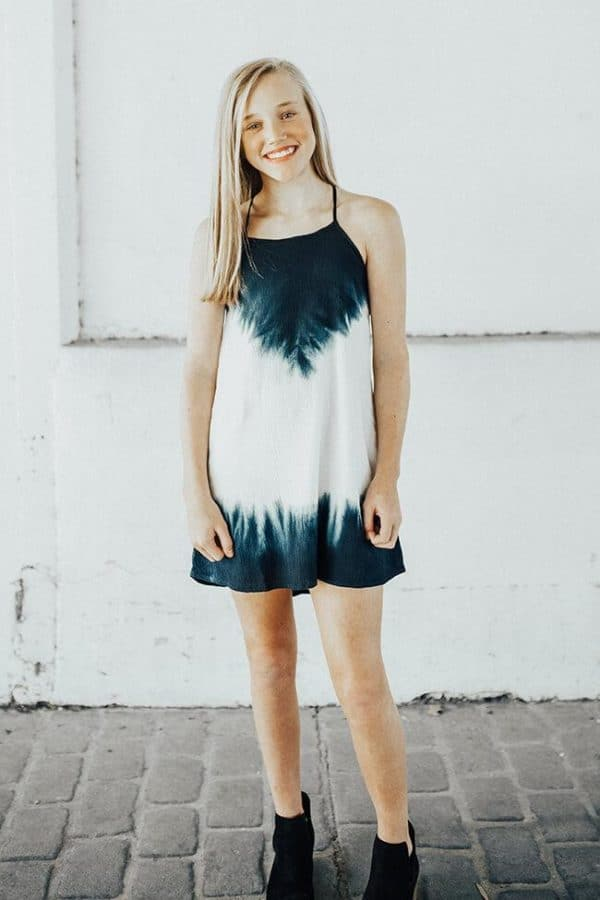 "Tractr ""Tie Dye"" Dress (Lined)"