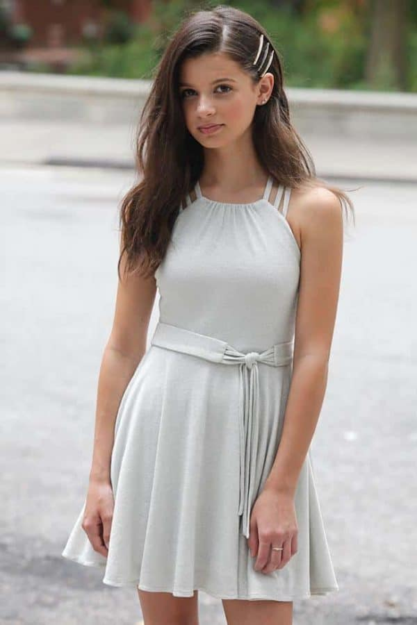 Girls Ariana Dress Silver