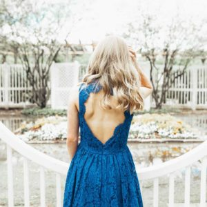 Girls Delilah Dress Royal Blue