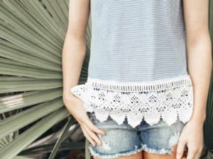 "Love Daisy ""Stripe Tank with Lace"""