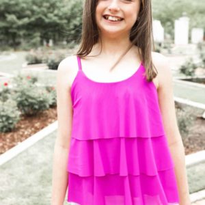 Girls Ruffle Tank Purple