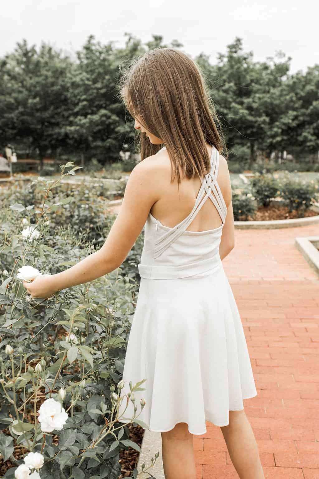 Girls Ariana Dress Silver