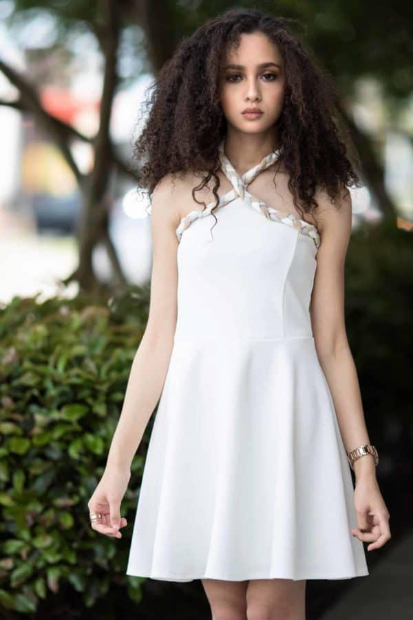 Girls Tween Olivia Dress- White