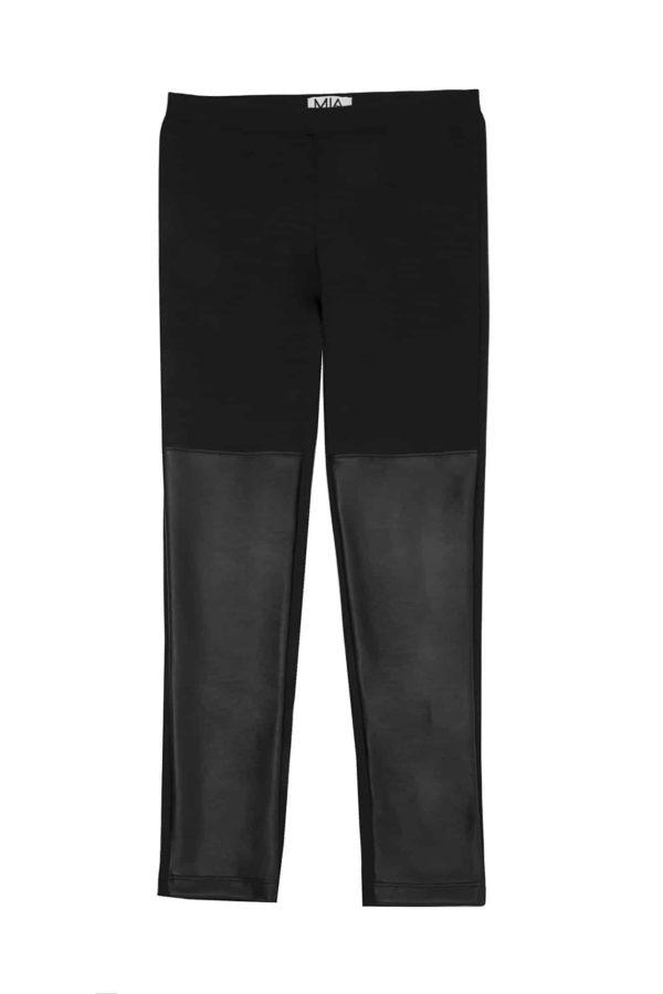 Tween Leather Bottom Leggings ~ Black