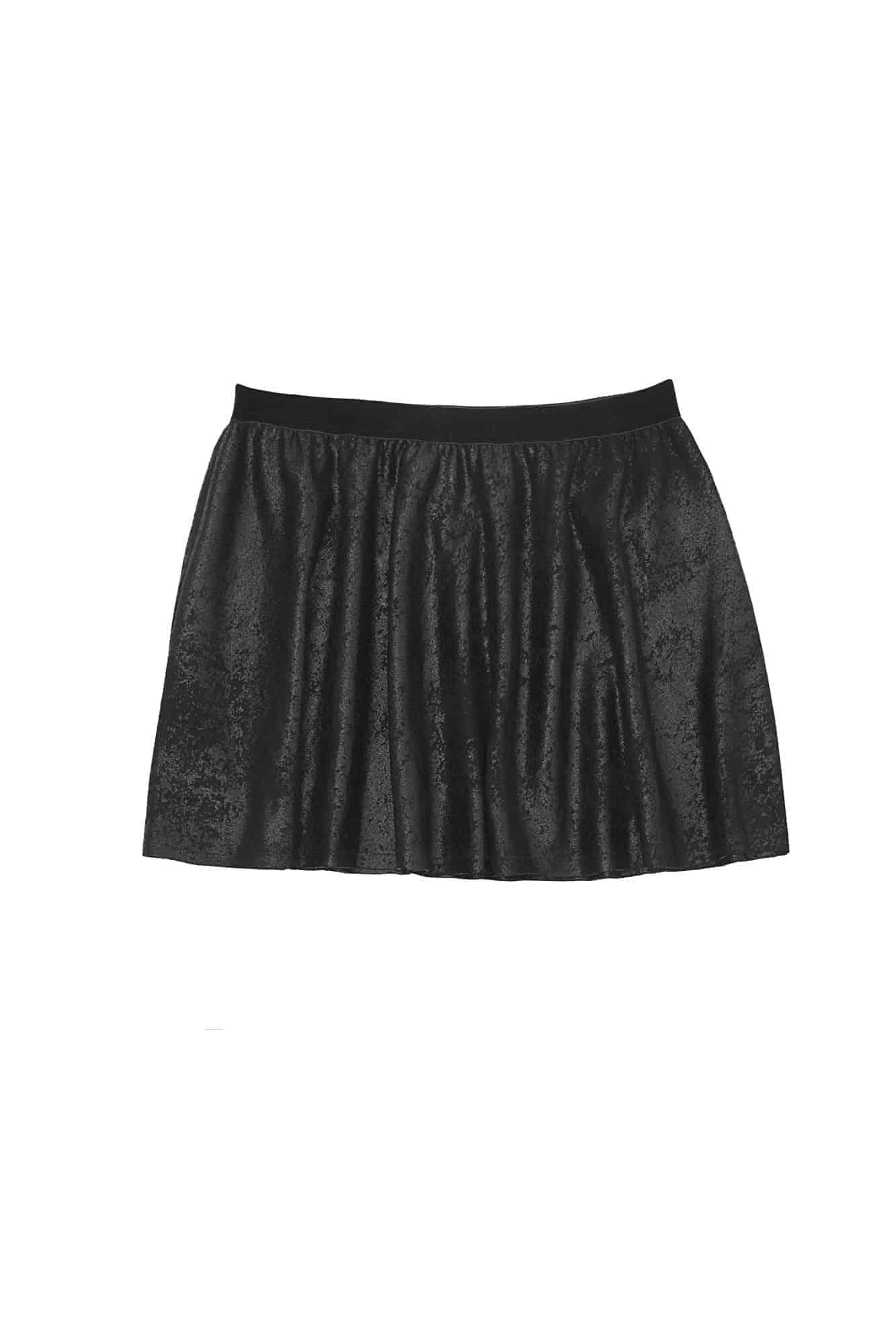 Tween Sueded Skater Skirt ~ Black