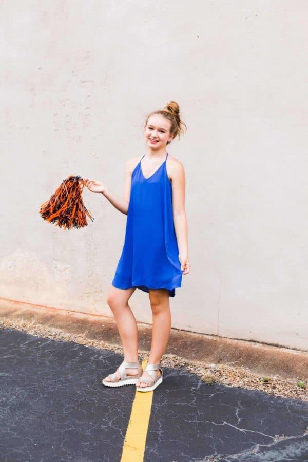 Juniors Royal Blue Dress