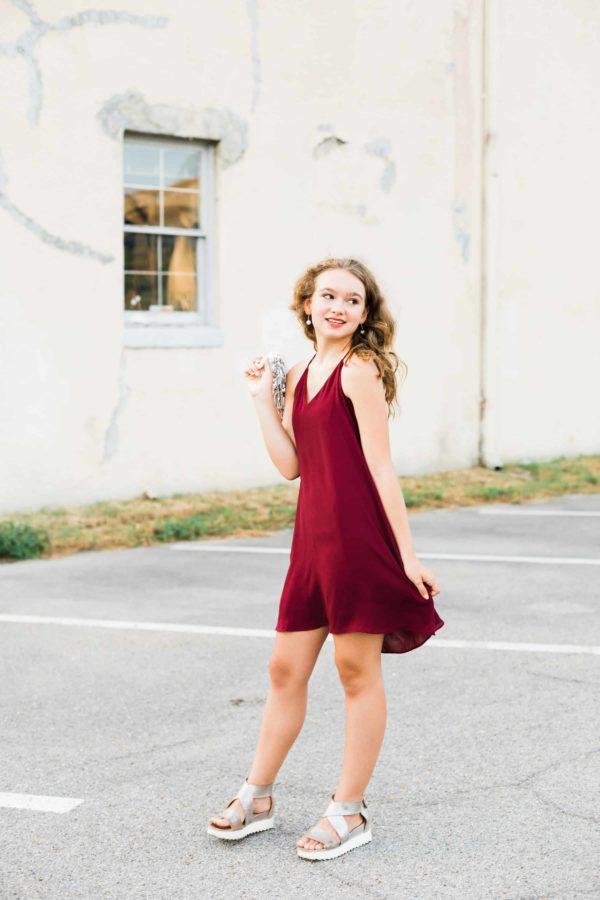 Juniors Crimson Dress