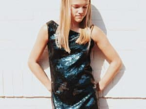 "Gigi Ri ""The Reese Dress"" Camo Sequin"