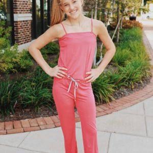 Tween Jumpsuit ~ Hot Pink