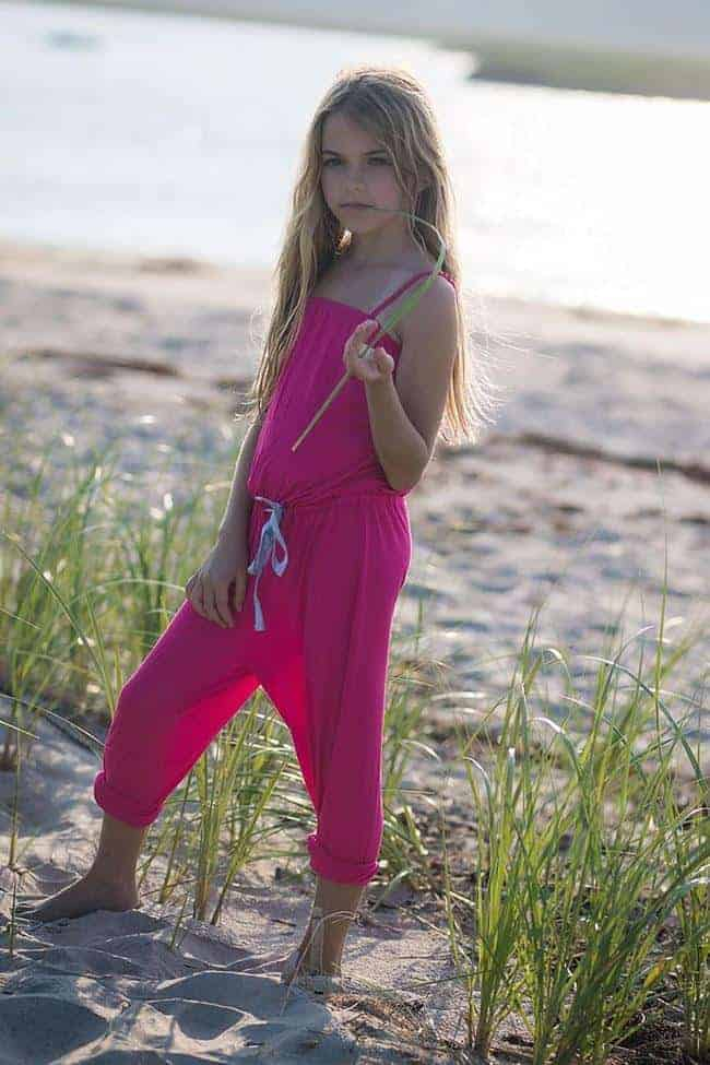 Tween Jumpsuit ~ Hot Pink