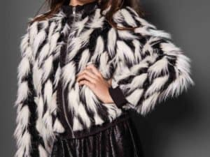 Tween Party Fur Jacket ~ Black/White