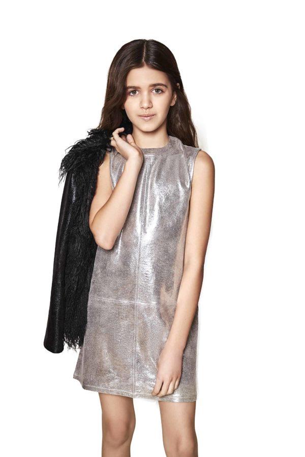 Tween Mod Dress ~ Silver