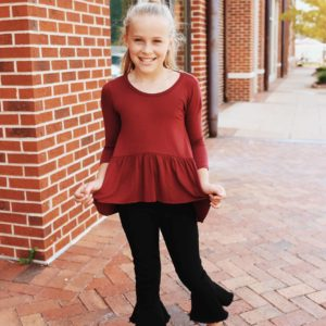 Girls Soho Tunic ~ Burgundy