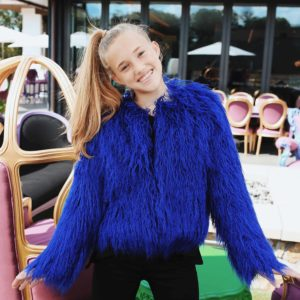 Tween Shag Fur Jacket ~ Cobalt