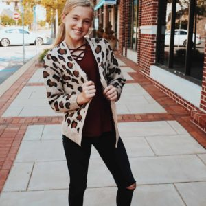 Girls Leopard Cardigan