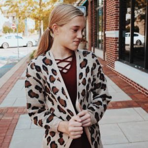Girls Leopard Cardigan