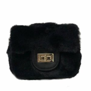 Girls Square Faux Fur Purse