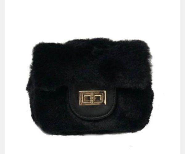 Girls Square Faux Fur Purse