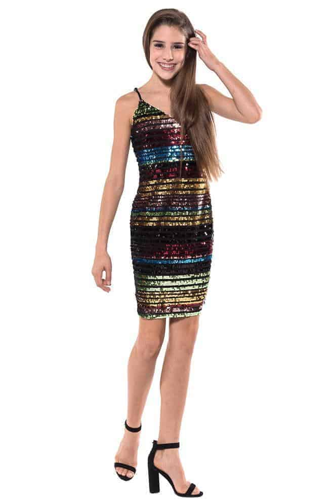 Tween Rainbow Sequin Dress