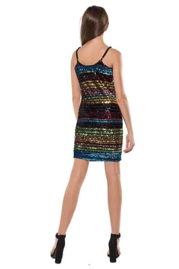 Tween Rainbow Sequin Dress