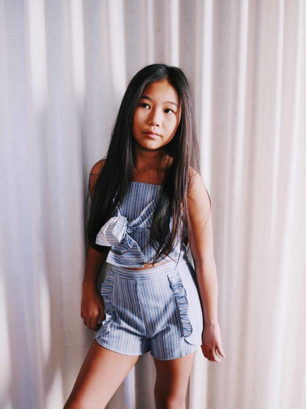 Girls Stripe Short