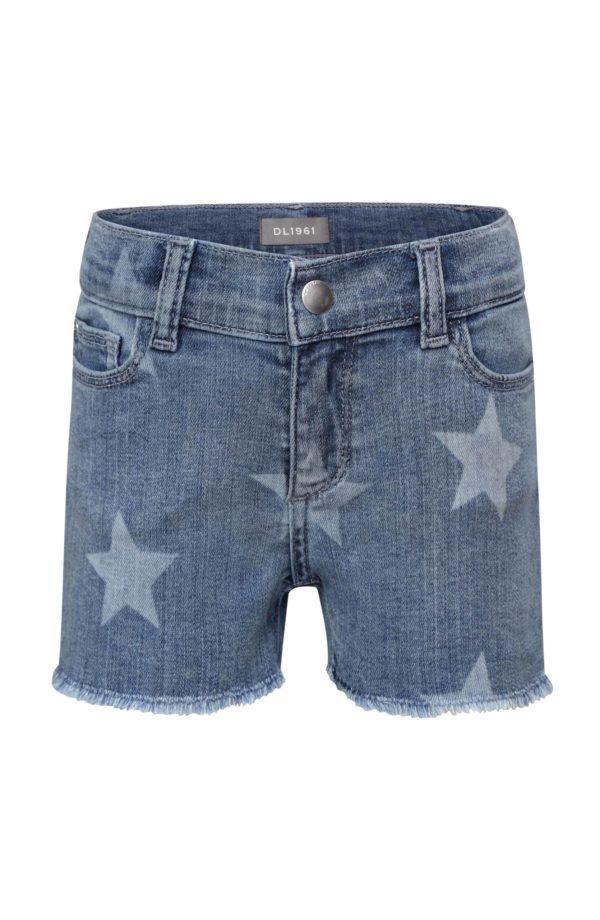 Girls Star Denim Short