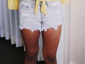 Tractr Girls Grey Denim Shorts