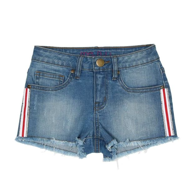 ME.N.U. Girls Tuxedo Denim Shorts