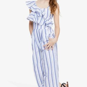Habitual Girl Stripe Jumpsuit
