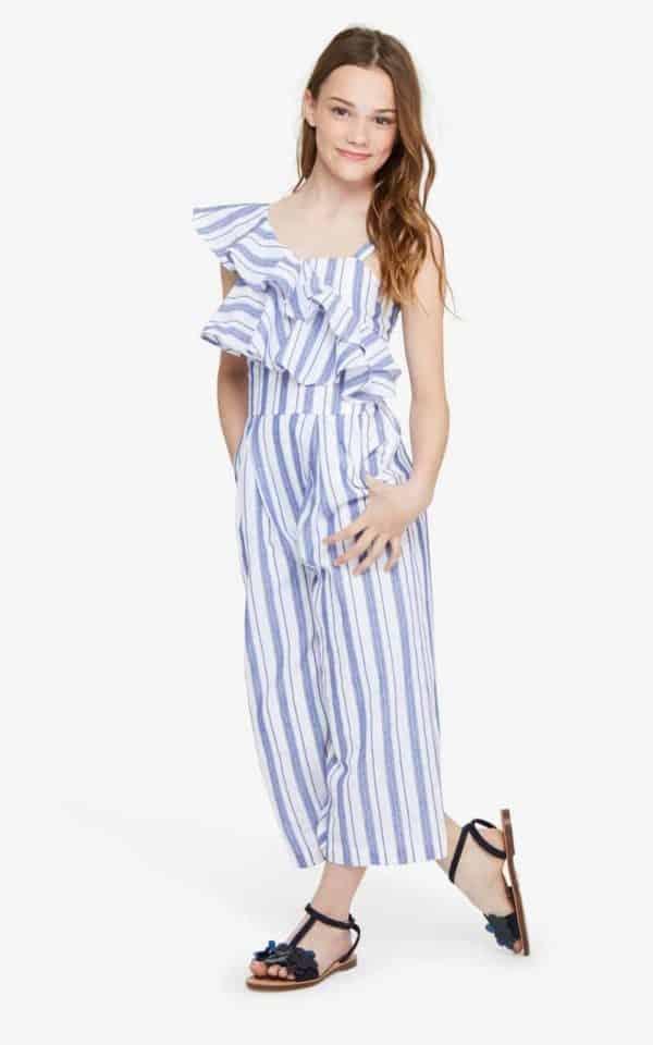 Habitual Girl Stripe Jumpsuit
