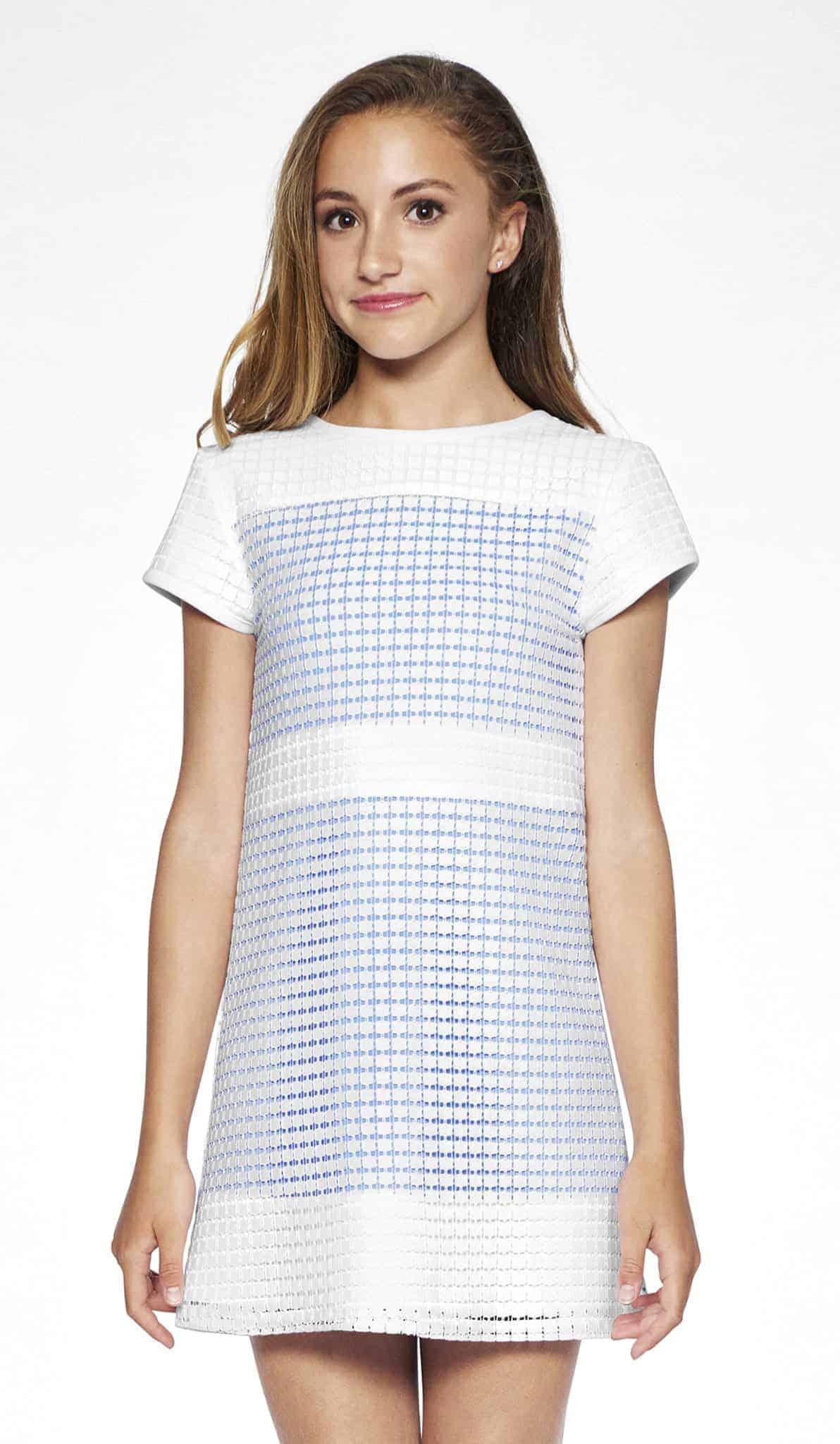 336c2f7409e87 Tween Sally Miller Naples Dress ~White/Blue ⋆ Gypsy Girl Tween Boutique